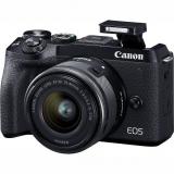 Canon EOS M6 MARK II + EF-M 15-45 IS STM + EVF hledáček černý