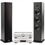 Set (CD přehrávač Denon DCD-600NE) + (Zesilovač Denon PMA-600NE) + (2x Reproduktory Polk T50 sloupový, 1 ks)