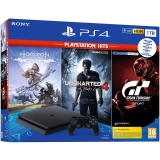 Sony PlayStation 4 1 TB + Gran Turismo Sport + Uncharted 4 + Horizon Zero Dawn