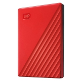 Western Digital My Passport Portable 2TB, USB 3.0 červený