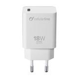 CellularLine USB-C PD, 18W bílá