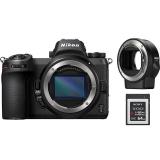 Nikon Z6 + adaptér bajonetu FTZ + 64 GB XQD karta  černý