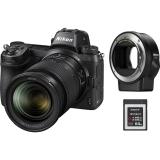 Nikon Z6 + 24-70 + adaptér bajonetu FTZ + 64 GB XQD karta  černý