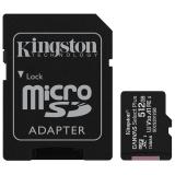Kingston Canvas Select Plus MicroSDXC 512GB UHS-I U1 (100R/85W) + adapter