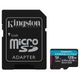 Kingston Canvas Go! Plus MicroSDXC 128GB UHS-I U3 (170R/90W) + adaptér