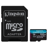 Kingston Canvas Go! Plus MicroSDXC 512GB UHS-I U3 (170R/90W) + adaptér