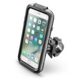 Interphone na Apple iPhone 8 Plus/7 Plus/6 Plus, úchyt na řídítka, voděodolné pouzdro
