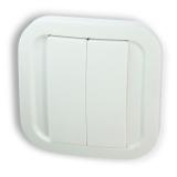 Fibaro NodOn Bateriové 4tlačítko na zeď, Z-Wave Plus bílý