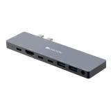Canyon 2x USB-C/2x USB, 2x HDMI 4K, USB-C PD 87W, 2x USB-C, 3,5mm
