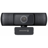 Swissten Webcam FHD 1080P černá