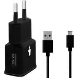 WG 1xUSB, QC 3.0 + USB-C kabel černá