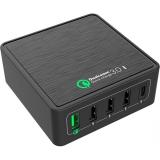 WG 5x USB, QC 3.0, USB-C, 40W černá