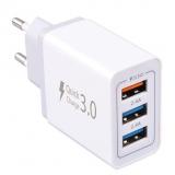 WG 3x USB, QC 3.0, 7,8 A bílá