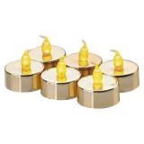 EMOS 6x čajová svíčka zlatá, 6x CR2032