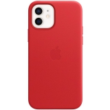 Apple Leather Case s MagSafe pro iPhone 12 a 12 Pro - (PRODUCT)RED