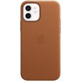 Apple Leather Case s MagSafe pro iPhone 12 a 12 Pro - sedlově hnědý
