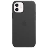 Apple Leather Case s MagSafe pro iPhone 12 a 12 Pro - černý