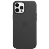 Apple Leather Case s MagSafe pro iPhone 12 Pro Max - černý
