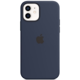 Apple Silicone Case s MagSafe pro iPhone 12 a 12 Pro - námořnicky tmavomodrý