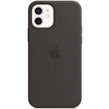 Apple Silicone Case s MagSafe pro iPhone 12 a 12 Pro - černý