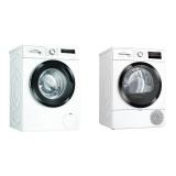 Set (Sušička prádla Bosch Serie   6 WTR87TW2CS) + (Pračka Bosch Serie   4 WAN28160BY)