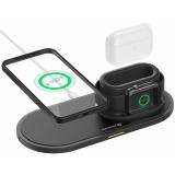 Swissten 3v1, pro iPhone, Apple Watch, Apple Airpods/Pro, 15W černá