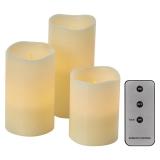 EMOS vosková svíčka, různé velikosti, 3x AAA, vnitřní, vintage, 3 ks, ovladač
