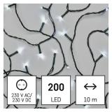 EMOS 200 LED řetěz, 10 m, vnitřní, studená bílá