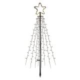 EMOS 180 LED vánoční strom kovový, 180 cm, venkovní i vnitřní, teplá bílá, časovač