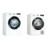 Set (Sušička prádla Bosch Serie   4 WTH85204BY) + (Pračka Bosch Serie   4 WAN28160BY)