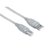 Hama USB / USB-B, 5m šedý