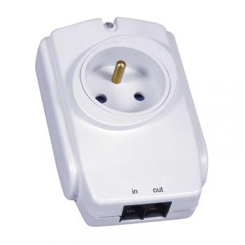 Přepěťová ochrana EMOS P53893, 1 zásuvka, bílá