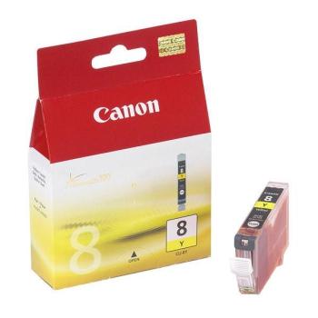 Inkoustová náplň Canon CLI-8Y, 420 stran - originální žlutá