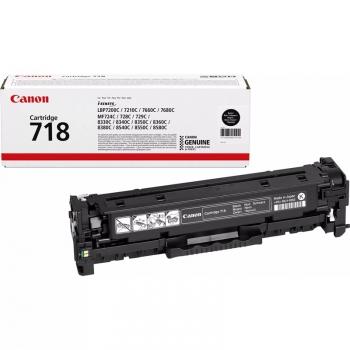 Toner Canon CRG-718Bk, 3400 stran černý