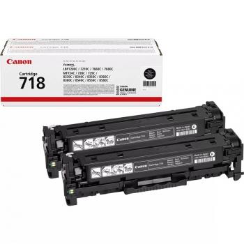 Toner Canon CRG-718Bk, 2 x 3,4K stran - originální černý
