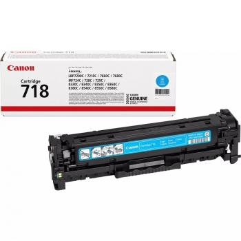 Toner Canon CRG-718C, 2900 stran modrý