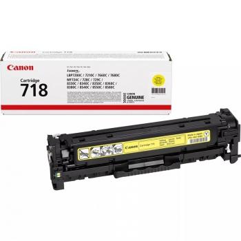 Toner Canon CRG-718Y, 2900 stran žlutý