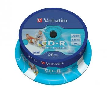 Disk Verbatim Printable CD-R DLP 700MB/80min, 52x, 25-cake