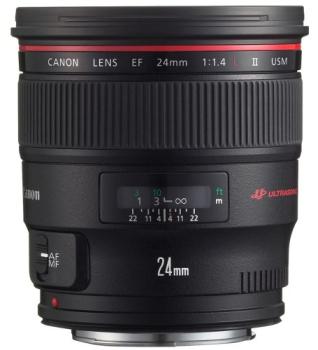 Objektiv Canon EF 24mm 1:1.4 L II USM černý