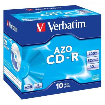 Disk Verbatim Crystal CD-R DLP 700MB/80min, 52x, jewel box, 10ks