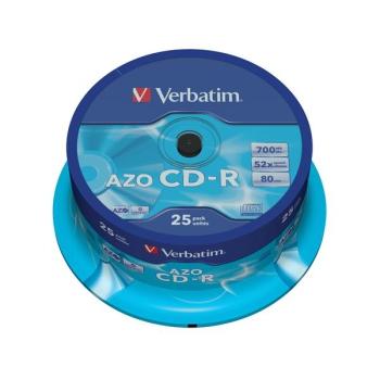 Disk Verbatim Crystal CD-R DLP 700MB/80min. 48x, 25-cake