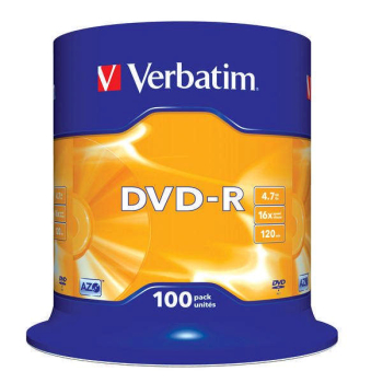 Disk Verbatim DVD-R 4,7GB, 16x, 100cake