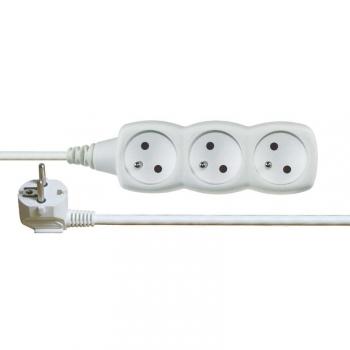 Kabel prodlužovací EMOS 3x zásuvka, 10m bílý