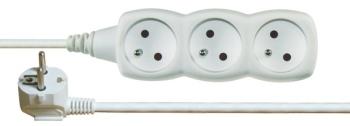 Kabel prodlužovací EMOS 3x zásuvka, 2m bílý