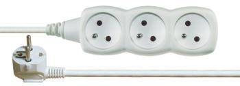 Kabel prodlužovací EMOS 3x zásuvka, 5m bílý