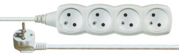 Kabel prodlužovací EMOS 4x zásuvka, 3m bílý