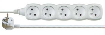 Kabel prodlužovací EMOS 5x zásuvka, 3m bílý