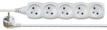 Kabel prodlužovací EMOS 5x zásuvka, 5m bílý