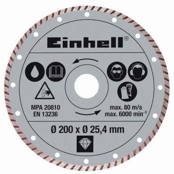 Kotouč diamantový Einhell 200x25,4 mm k řezačkám TPR 200/2 a RT-SC 560 U