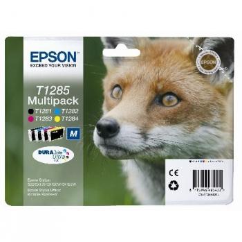 Inkoustová náplň Epson T1285, 16,4ml - originální černá/červená/modrá/žlutá